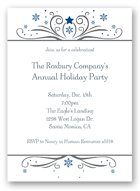 corporate holiday invitation