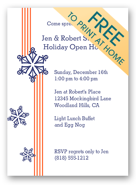 Christmas Invitation  Christmas Invite Template Free