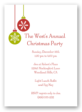 Christmas Party Invitation Free  Christmas Invite Template Free