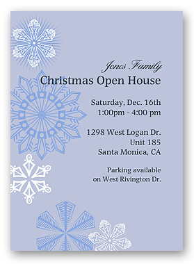 holiday ornament invitation winter invitation