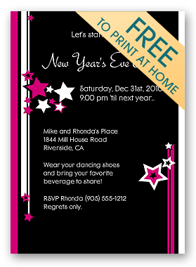 Make Free Printable Christmas Party Invitations Holiday Invitations - New years eve party invitation templates free